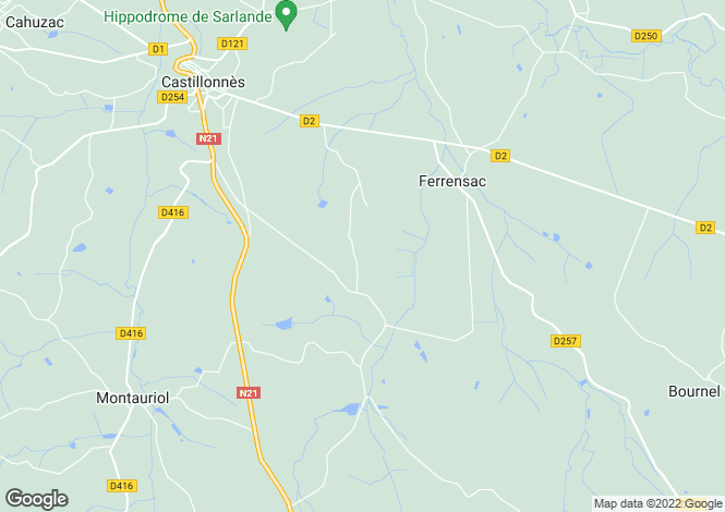 Map for FERRENSAC, NOUVELLE-AQUITAINE