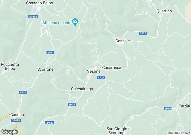 Map for Piedmont, Asti, Vesime