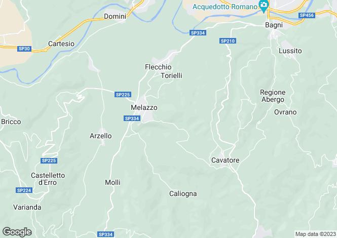 Map for Piedmont, Alessandria, Melazzo