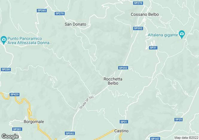 Map for Piedmont, Cuneo