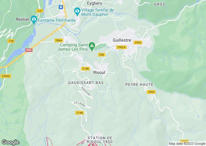 Map for Risoul, Hautes-Alpes, Provence-Alps-Cote d`Azur