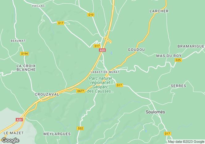 Map for Labastide Murat, 46, France