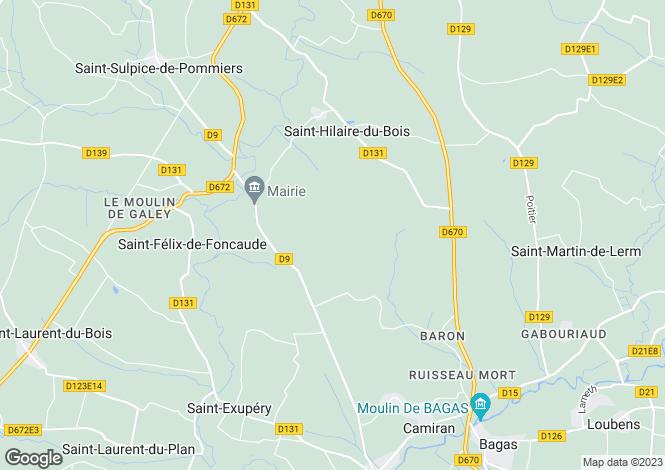 Map for nr-sauveterre-de-guyenne, Gironde, France