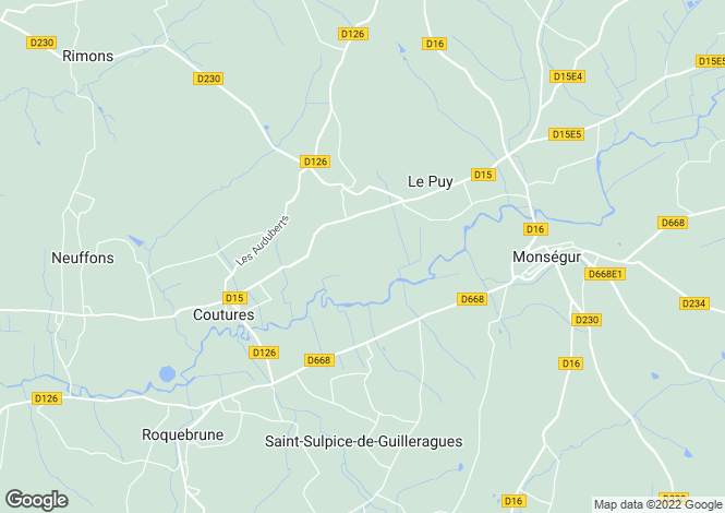 Map for Aquitaine, Gironde, Le Puy