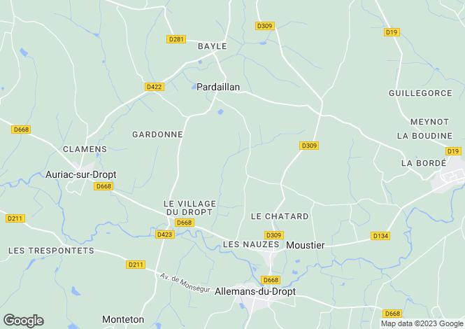 Map for Pardaillan, Lot-et-Garonne, Aquitaine