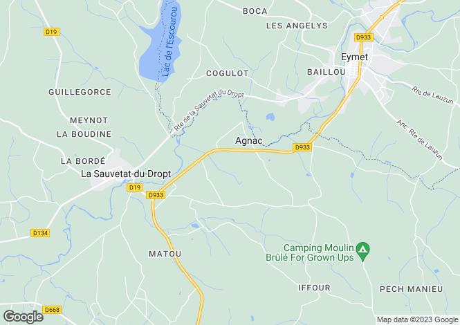 Map for agnac, Lot-et-Garonne, France