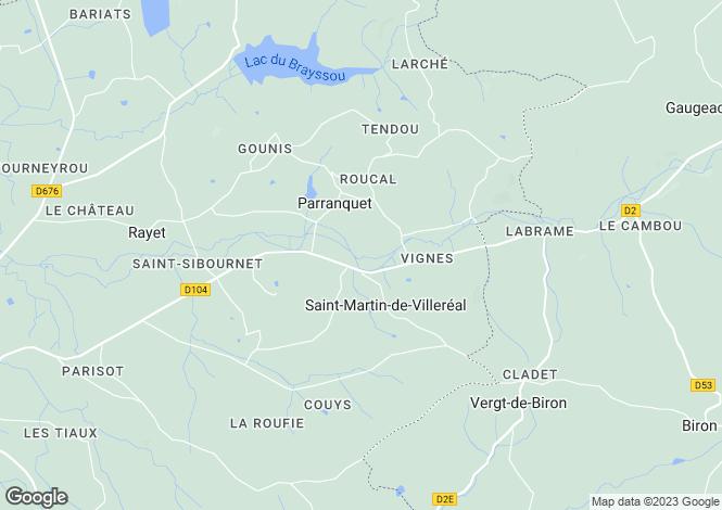 Map for Parranquet, France