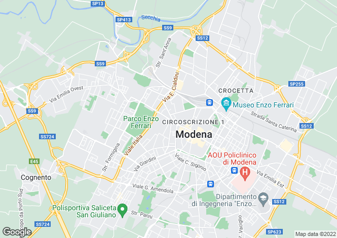 Map for Italy - Emilia-Romagna, Modena, Modena