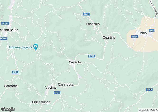 Map for Cessole, Asti, Piedmont