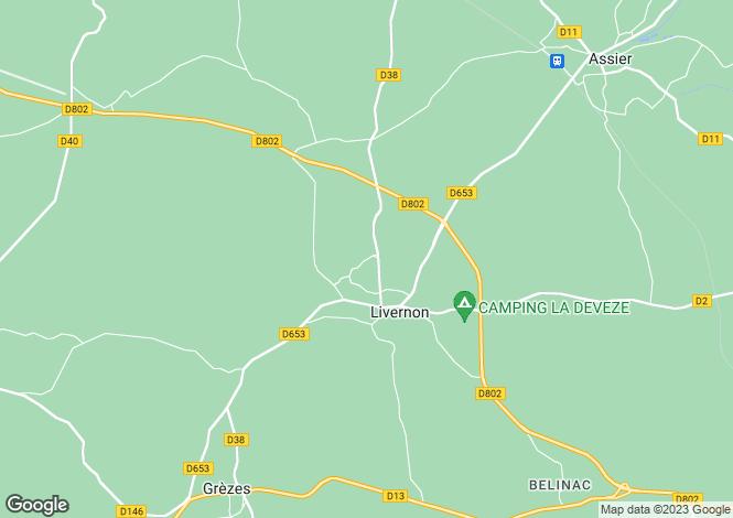 Map for Midi-Pyrenees, Lot, Livernon