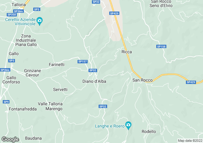 Map for Diano d`Alba, Cuneo, Piedmont