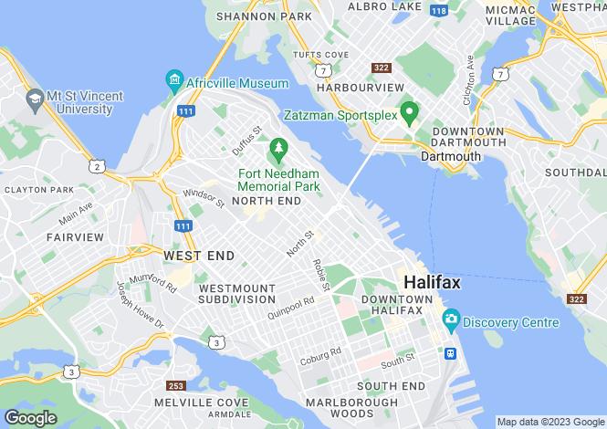 Map for Halifax, Nova Scotia