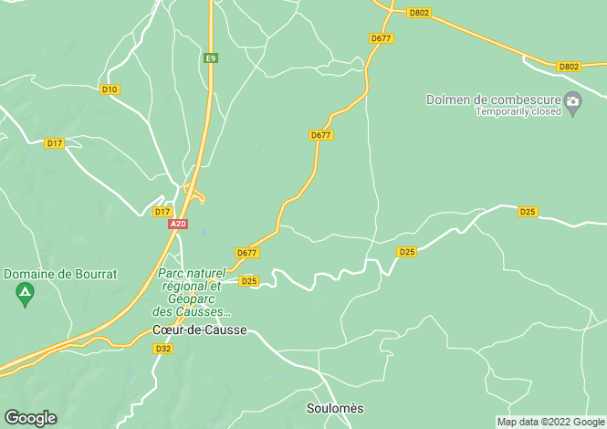Map for Midi-Pyrénées, Lot, Payrignac