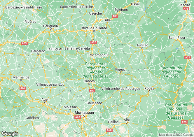 Map for Quercy Blanc, 46, France