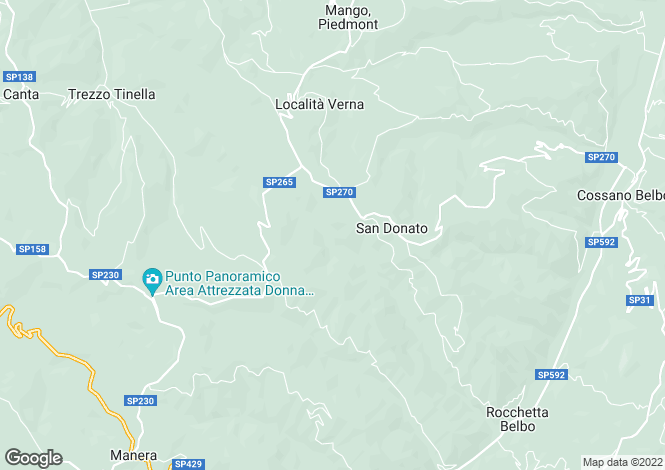 Map for Piedmont, Cuneo, Neive