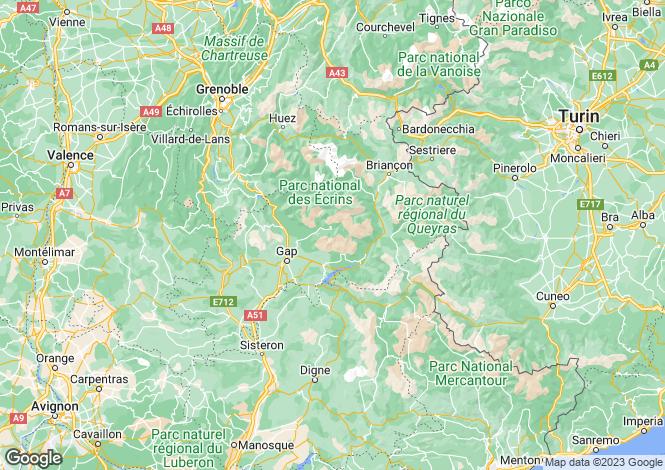 Map for Provence-Alps-Cote d`Azur, Hautes-Alpes