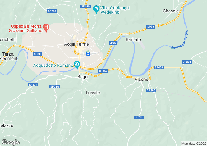 Map for Acqui Terme, Alessandria, Italy