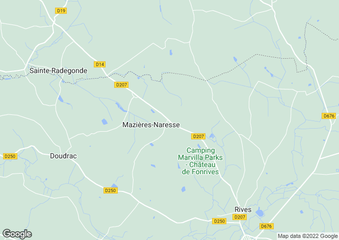 Map for MAZIERES NARESSE,