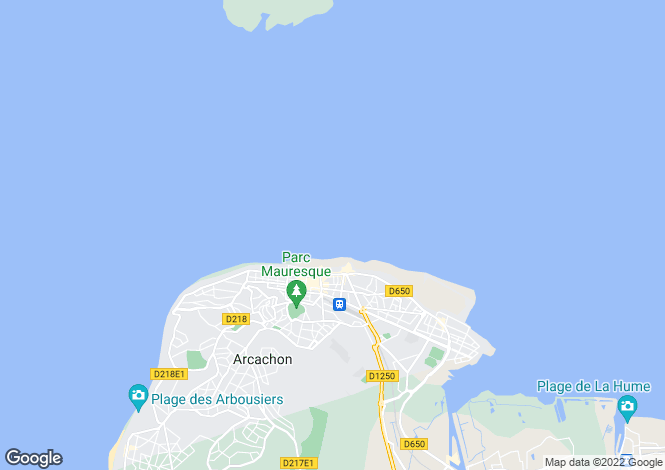 Map for 33120 arcachon