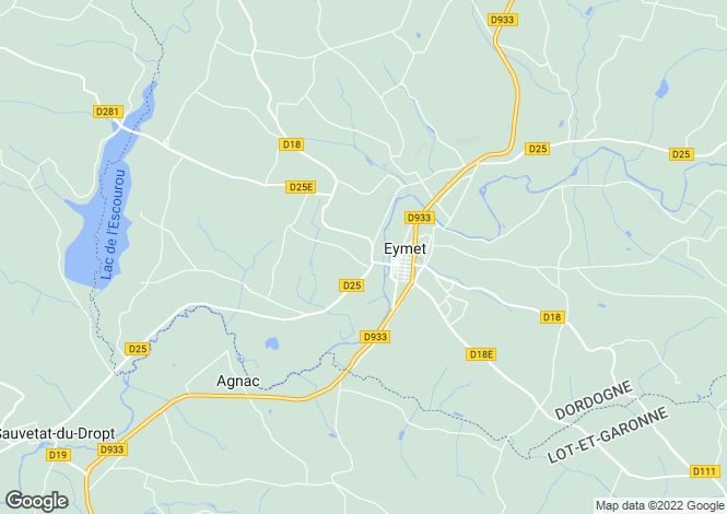 Map for Equestrian Property, Eymet Area, Dordogne, Aquitaine