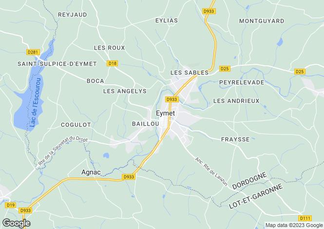 Map for Eymet, Dordogne, 24500, France