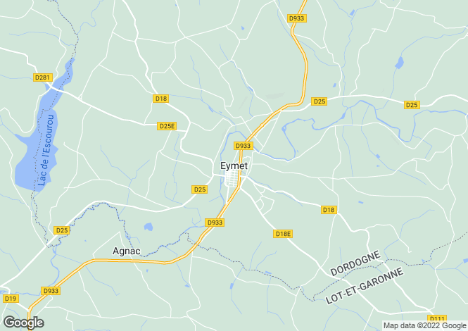 Map for Eymet, Dordogne, 24500, France