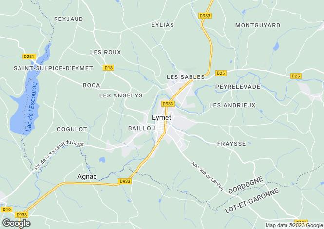 Map for Secteur: Eymet, Dordogne