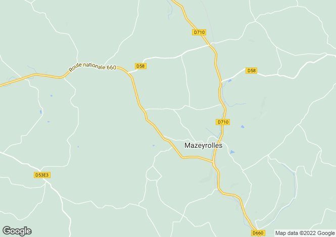 Map for Mazeyrolles, Dordogne, 24550, France