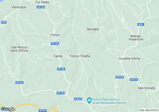 Map for Piedmont, Cuneo, Trezzo Tinella