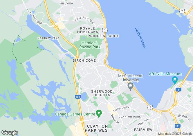 Map for Nova Scotia, Halifax