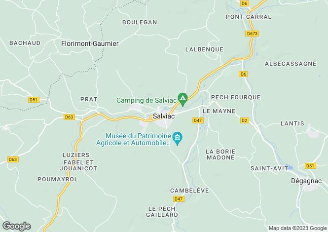 Map for Secteur: Salviac, Lot
