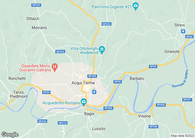 Map for Piedmont, Alessandria, Acqui Terme