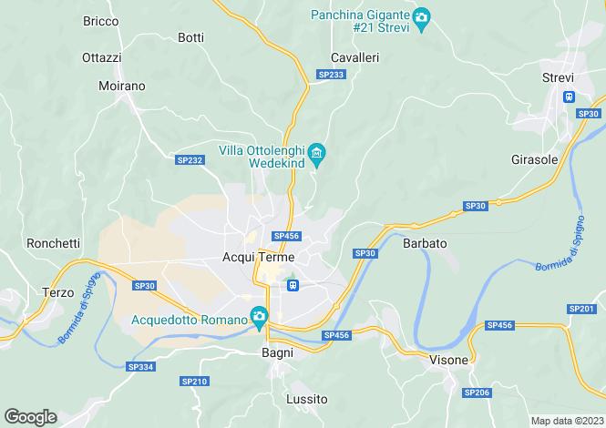 Map for Acqui Terme, Alessandria, Piedmont