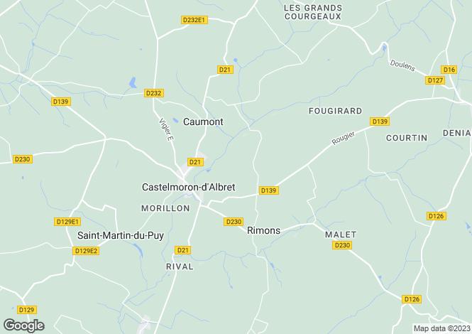 Map for sauveterre-monsegur, Gironde, France