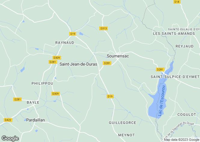 Map for Aquitaine, Lot-et-Garonne, near Soumensac