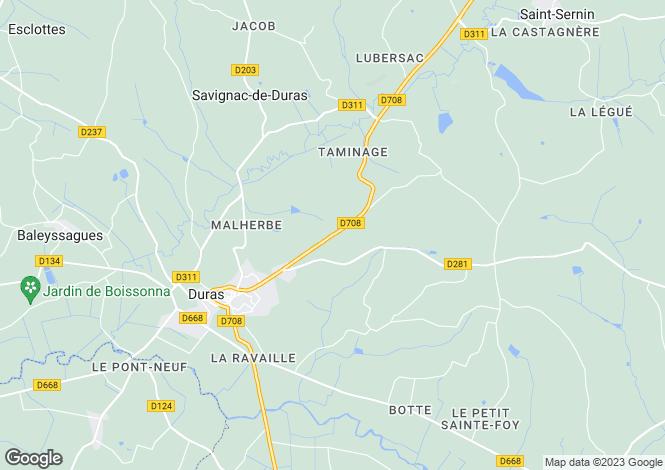 Map for Secteur: Saint Foy la Grande, Gironde
