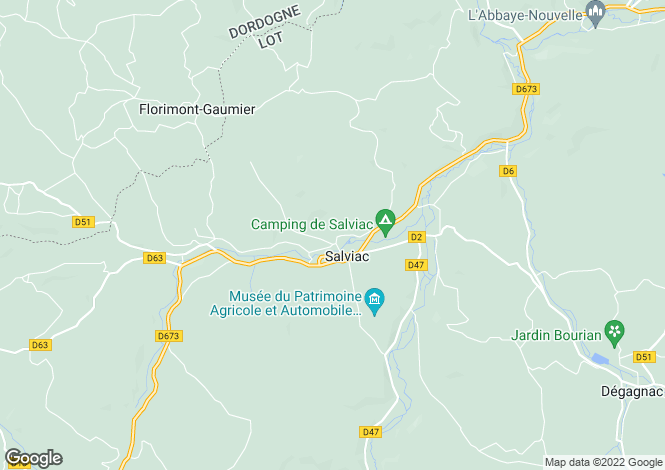Map for Salviac, 24, France