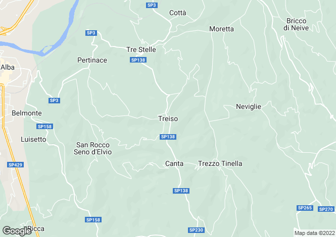 Map for Piedmont, Cuneo, Treiso