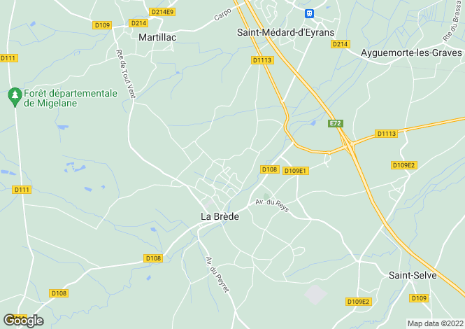 Map for bordeaux, Gironde, France