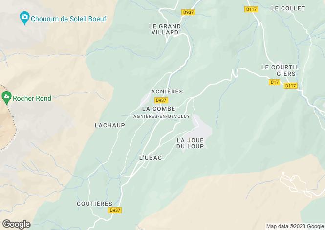 Map for agnieres-en-devoluy, Hautes-Alpes, France