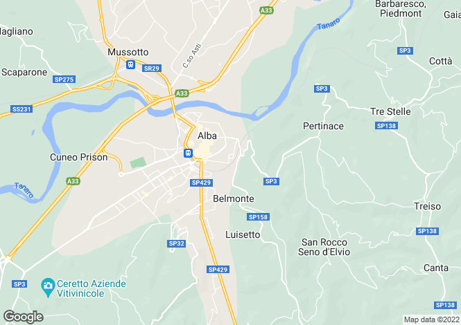 Map for Alba, Cuneo, Piedmont
