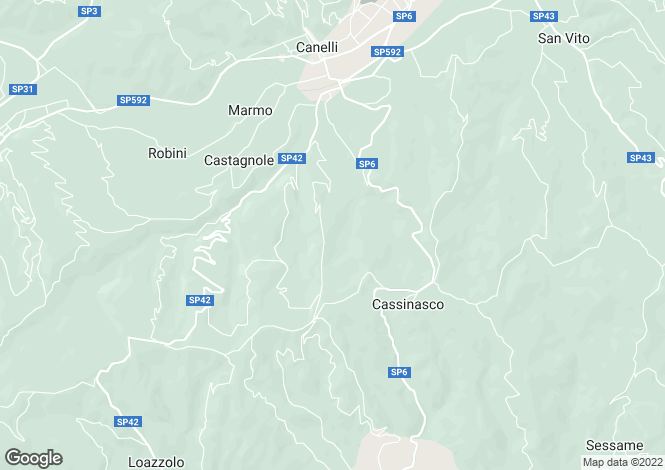 Map for Canelli, Asti, Piedmont
