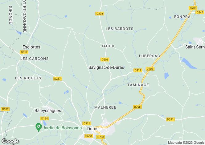 Map for Near Duras, Lot et Garonne
