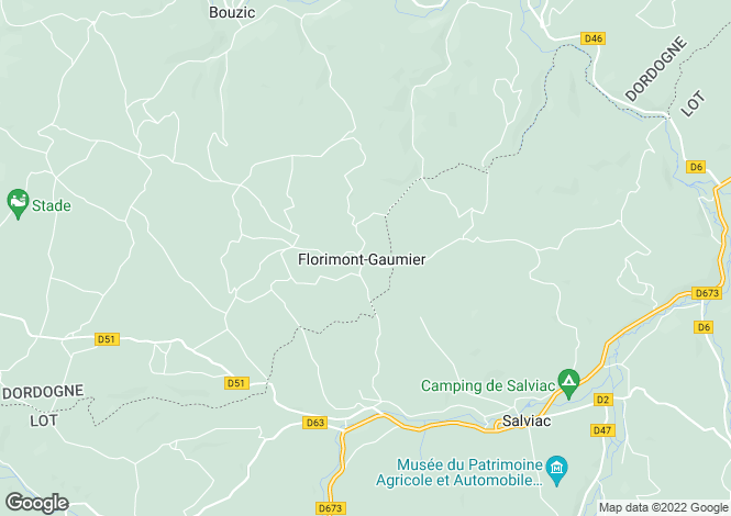 Map for florimont-gaumier, Dordogne, France