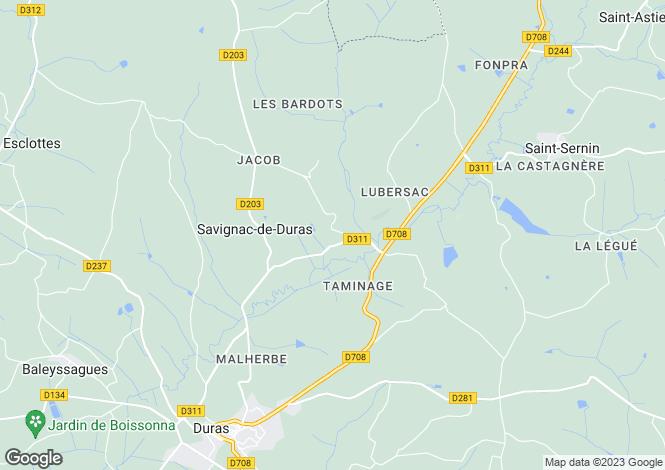 Map for Savignac De Duras, Aquitaine, 47120, France