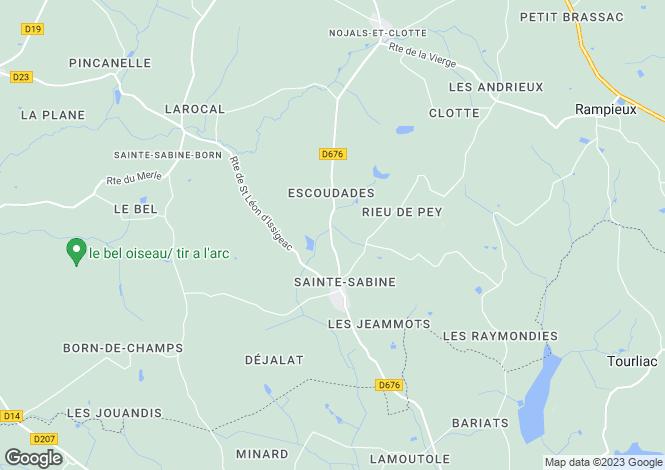 Map for STE SABINE BORN, Dordogne Area, S.W France - Aquitaine,