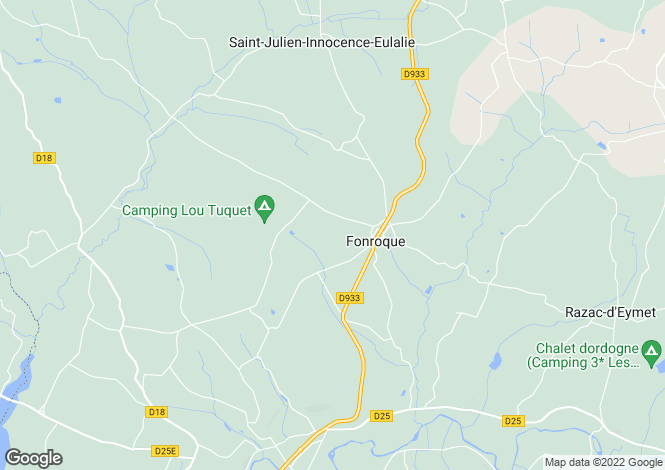 Map for Fonroque, Aquitaine, 24500, France