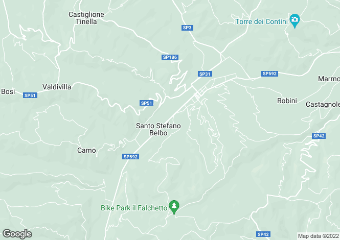 Map for Santo Stefano Belbo, Cuneo, Piedmont