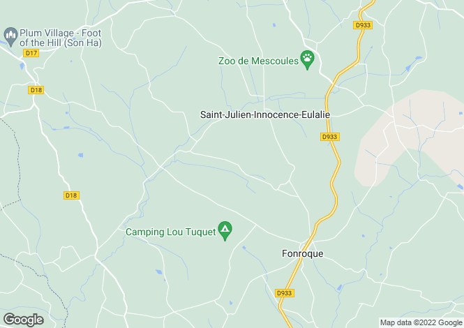 Map for Ste-Innocence, Dordogne, Aquitaine