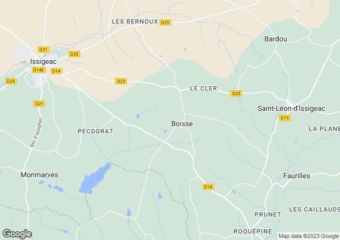 Map for boisse, Dordogne, France